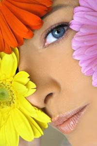 Banki zdjęć - dziewczyna z kwiatami
